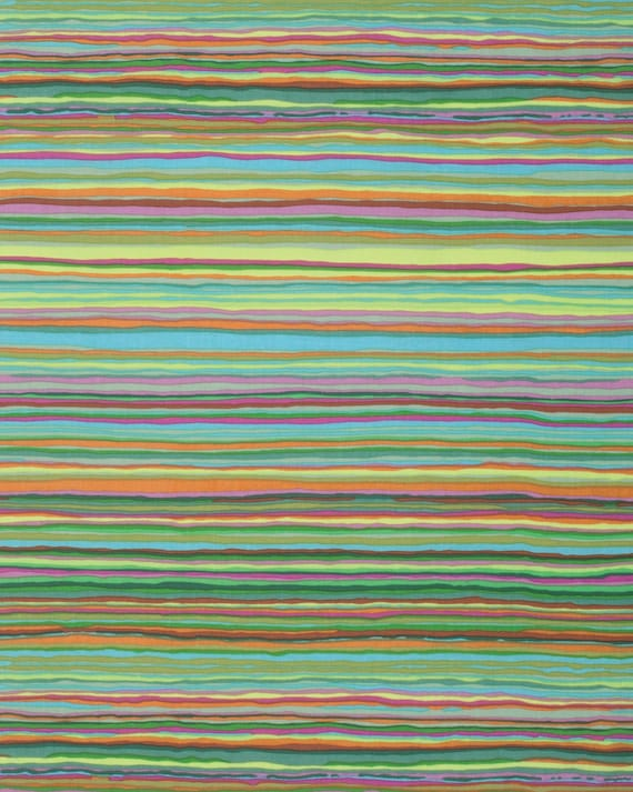 STRATA SPRING Green  Kaffe Fassett Collective fabrics - Sold in 1/2 yd increments - Multiples cut as one length