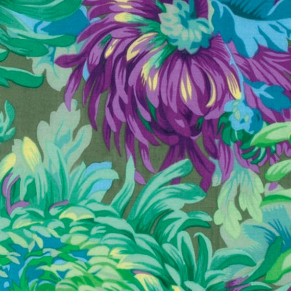 1/2 yd SHAGGY AQUA PJ072   Philip Jacobs for Kaffe Fassett Collective  - Sold in 1/2 yd increments - Multiple units cut as one length
