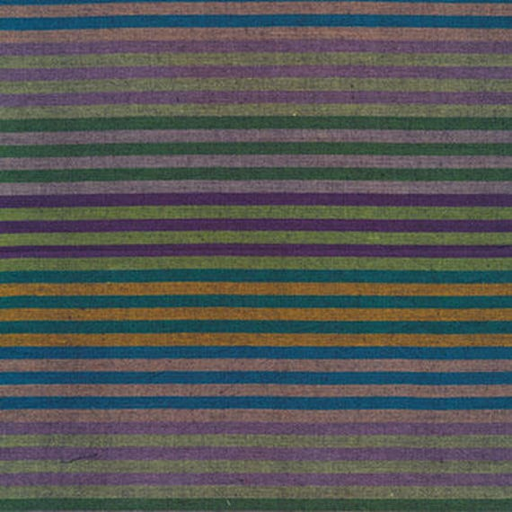 CATERPILLAR Woven Stripe DARK WCATERDARK by Kaffe Fassett fabric sold in 1/2 yard increments