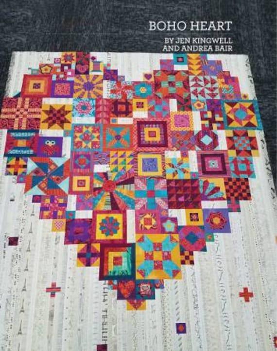 BOHO HEART Quilt Pattern by Jen Kingwell Designs