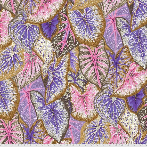 Pre-Order on Separate Order! CALADIUMS PASTEL Philip Jacobs Kaffe Fassett Collective - Sold in 1/2yd units - Multiples cut continuous