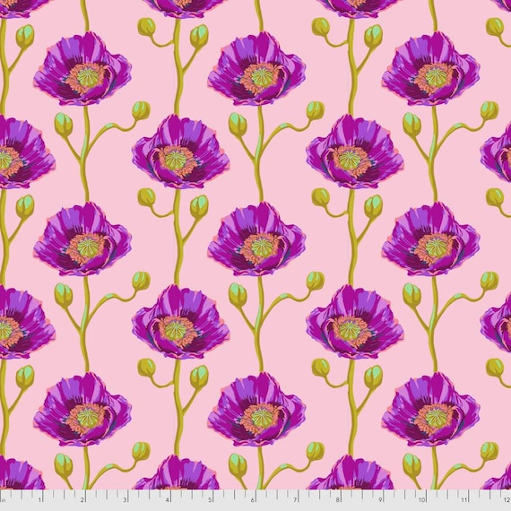 1/2 yd CHEERING SECTION BLUSH - Bright Eyes by Anna Maria Horner pwah154.blush Sold in 1/2 yd increments - Multiples cut as one length