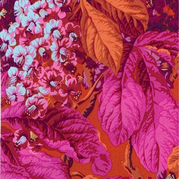 HORSE CHESTNUT RED Philip Jacobs Kaffe Fassett  Sold in 1/2 yard increments