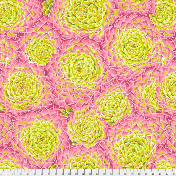 SUCCULENT LIME PWPJ091  Philip Jacobs for Kaffe Fassett Collective Sold in 1/2 yard increments