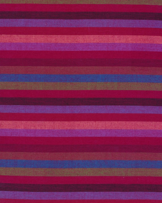 NARROW STRIPE RED Woven by Kaffe Fassett fabric sold in 1/2 yard increments