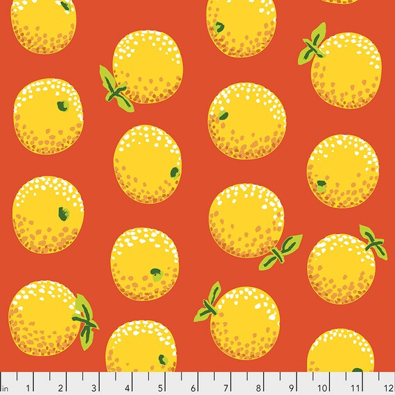ORANGES YELLOW PWGP177  Kaffe Fassett -  1/2 yd - Multiples cut one length  - USA based retailer