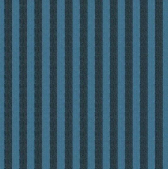 NARROW SHOT STRIPE  Mallard Blue New Woven ssgp002.mallard Kaffe Fassett Sold in 1/2 yd units - Multiples cut as one length