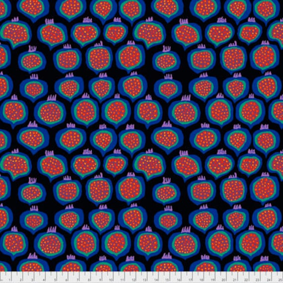 POMEGRANATE BLACK  Brandon Mably PWBM067.BLACK  Sold in 1/2 yard increments