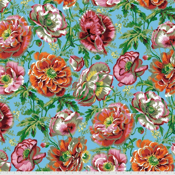 DOROTHY NATURAL Philip Jacobs Kaffe Fassett Collective -  - Sold in 1/2 yd increments  - Multiples cut continuous