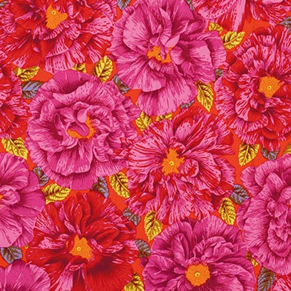 1/2 yd BOUFFANT RED Philip Jacobs Kaffe Fassett Collective Multiple units cut as one length