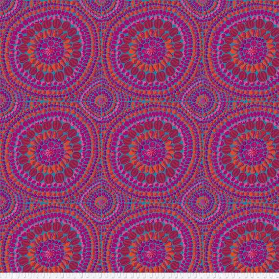 "MANDALA 108"" WIDE BACKING Fabric Pink Kaffe Fassett Collective Sold in 1/4 and 1/2 yd increments QBGP003.2Pink"