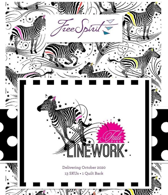 Pre-Order LINEWORK by Tula Pink  -  Choose 1/2 or 1 yard bundles of full collection 13 SKU's