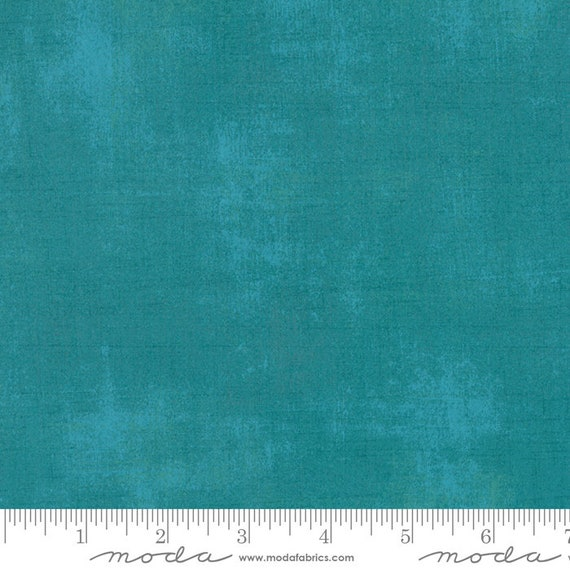 1/2 yd GRUNGE BRIGHT OCEAN Teal Green  Moda Basics 30150 228 -  Sold in 1/2 yd increments - Multiple units cut as one length