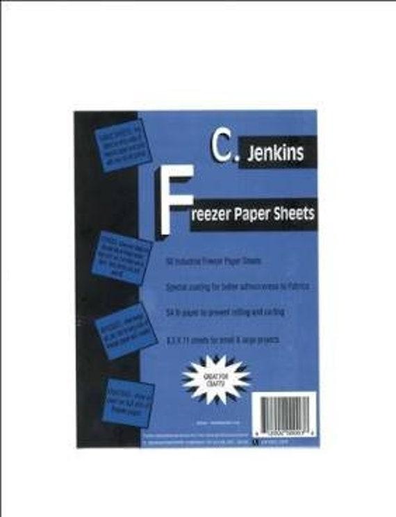 "FREEZER PAPER CJENKINS  8 1/2"" x 11"""