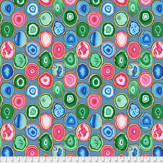 Pre-Order - GEODES GREY pwpj099 Philip Jacobs Kaffe Fassett Collective - Sold in 1/2 yd increments - Multiples cut in one length