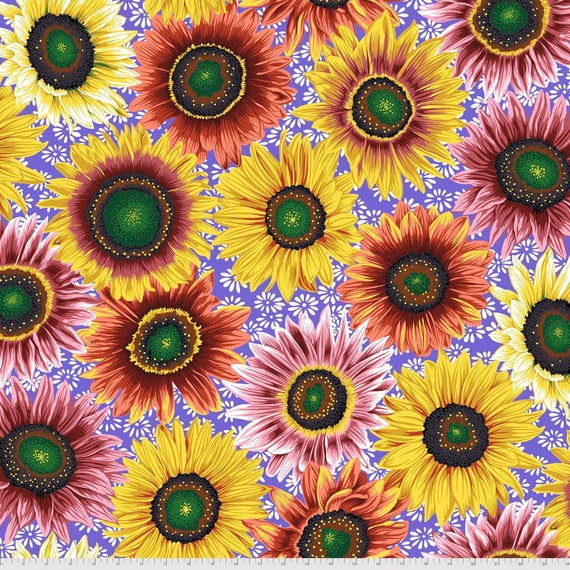 VAN GOGH BRIGHT Philip Jacobs Kaffe Fassett Collective - - Sold in 1/2 yd increments  - Multiples cut continuous
