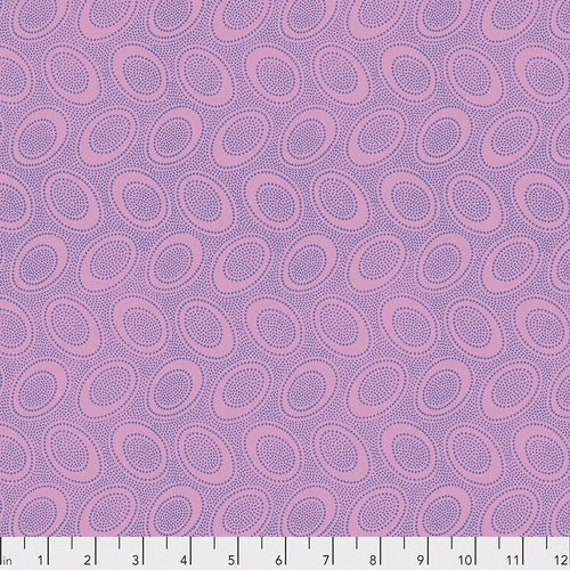 ABORIGINAL DOT GP71 WISTERIA  Kaffe Fassett - Sold in 1/2 yd increments  - Multiple units cut as one length