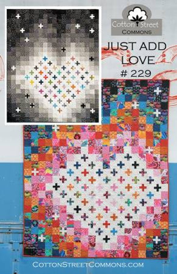 "JUST ADD LOVE   -  Pattern Only - Finished size 70"" x 84"""