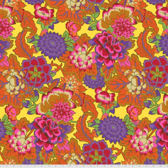 CLOISONNE ORANGE Kaffe Fassett -  - Sold in 1/2 yd increments  - Multiples cut continuous