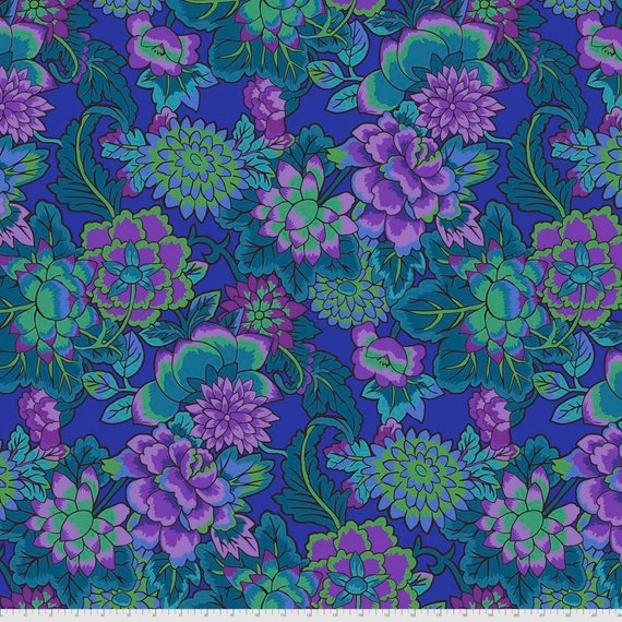 Pre-Order on Separate Order! CLOISONNE BLUE Kaffe Fassett - Sold in 1/2yd units - Multiples cut continuous