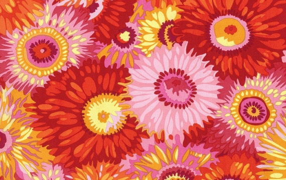 ZANY HOT PJ079 by Philip Jacobs for Kaffe Fassett Collective Sold in 1/2 yd increments