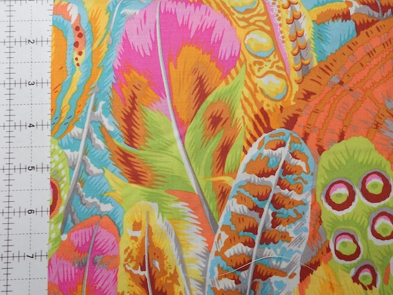 1/2 yd FEATHERS YELLOW Philip Jacobs - Kaffe Fassett Collective  - Sold in 1/2 yd increments - Multiple units cut as one length