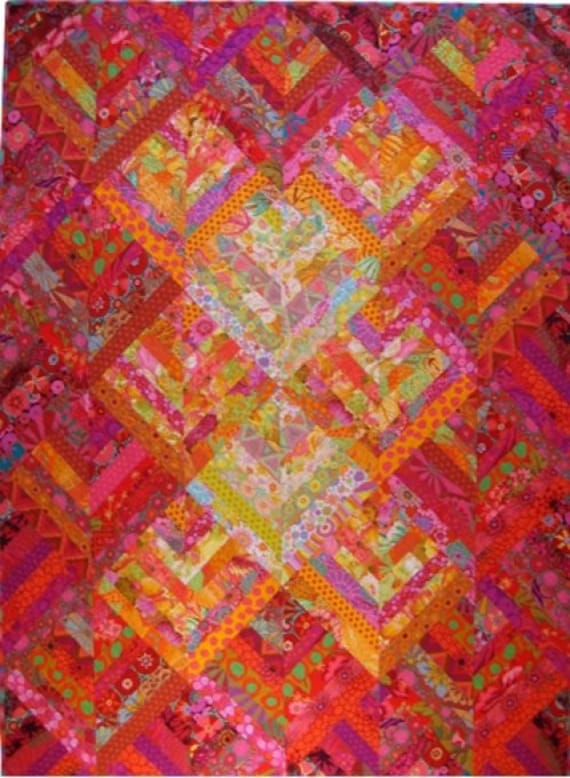 CANDY STICKS SUNSET Quilt Kit - Free Shipping - All Kaffe Fassett Collective fabrics