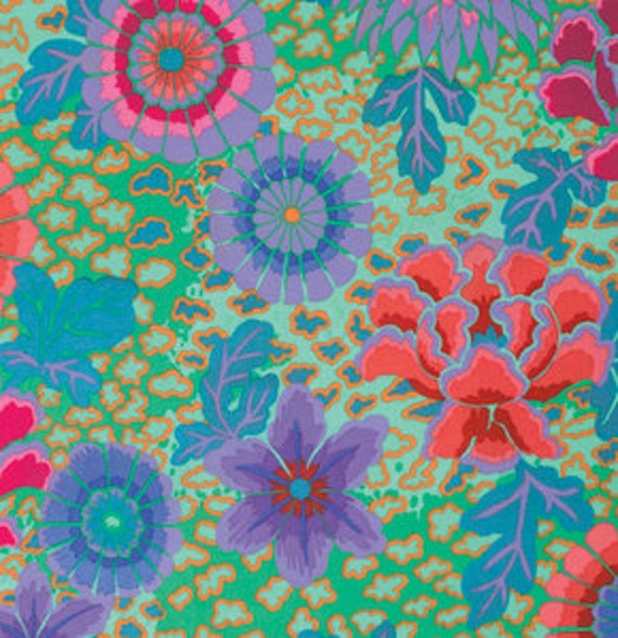 DREAM AQUA green GP148 by Kaffe Fassett  Sold in 1/2 yd increments