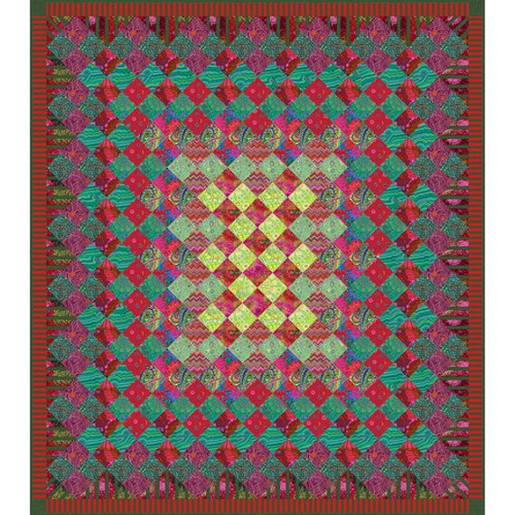 "FESTIVE JEWEL Quilt Kit  63"" x 72""   - Kaffe Fassett  Collective Fabrics - June/July delivery  - USA based retailer"