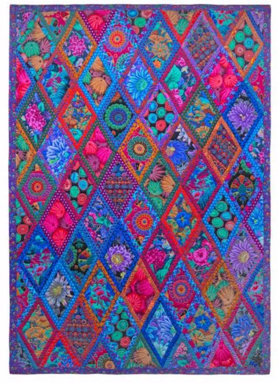 MIDNIGHT DIAMONDS - Some substituted fabrics - Please read description - Kaffe Fassett Collective