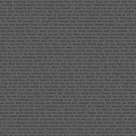 SUNPRINT 2019  TEXT PRINT A-9035-K Grey  Alison Glass Sold in 1/2 yard increments