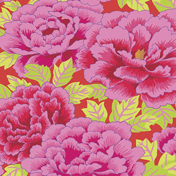 KIMONO CRIMSON Pink GP33 Kaffe Fassett  Sold in 1/2 yd increments