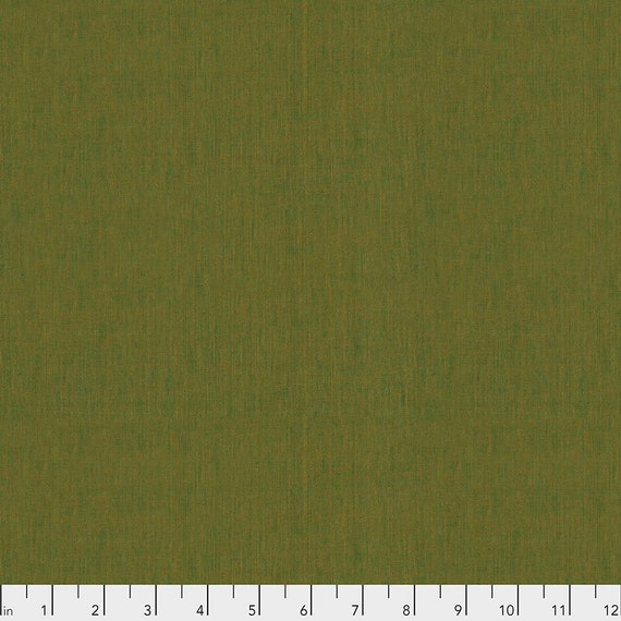 SHOT COTTON KHAKI  New Woven scgp107.khaki  Kaffe Fassett Sold in 1/2 yd units - Multiples cut as one length