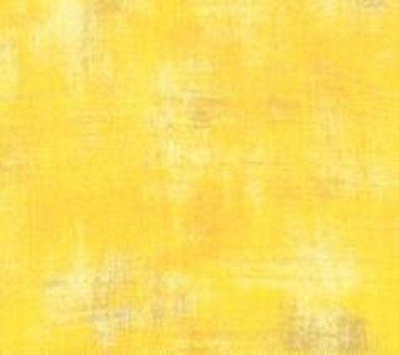 1/2 yd GRUNGE SUNFLOWER YELLOW Moda Basics 30150 165 - Sold in 1/2 yd increments - Multiple units cut as one length