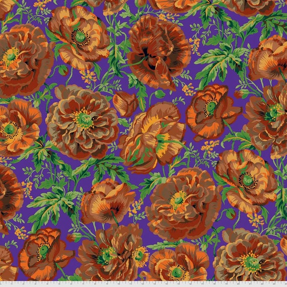 DOROTHY BROWN Philip Jacobs Kaffe Fassett Collective -  - Sold in 1/2 yd increments  - Multiples cut continuous