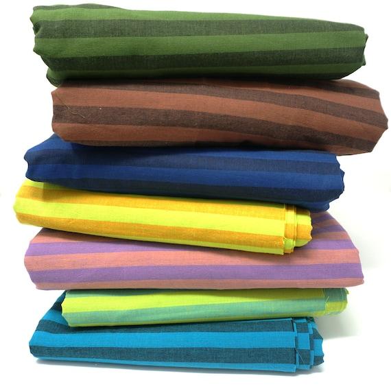 7 x 1/4 yard NARROW STRIPE Shot Cotton Fabric Pack ssgp002  Kaffe Fassett - Free US Shipping