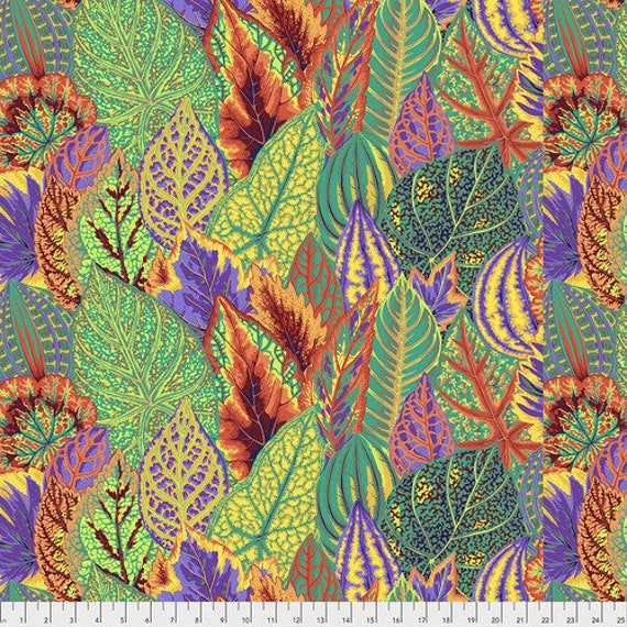 Pre-Order Item -COLEUS GOLD PWPJ030 Philip Jacobs Kaffe Fassett Collective Sold in 1/2 yd increments