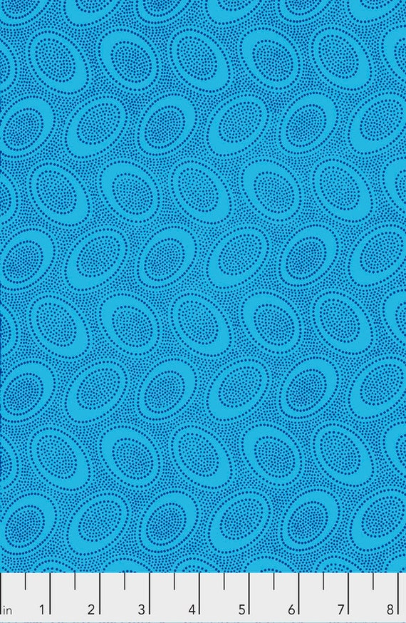 ABORIGINAL DOT Turquoise GP71 Kaffe Fassett Sold in 1/2 yard increments  - USA based retailer
