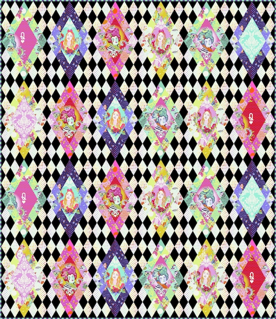 In stock! PAWN To QUEEN Quilt Kit  w/full FQ Pack - Curiouser & Curiouser by Tula Pink