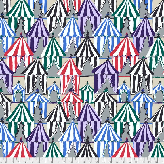 GLAMPING GREY Brandon Mably PWBM066.GREYX Sold in 1/2 yard increments