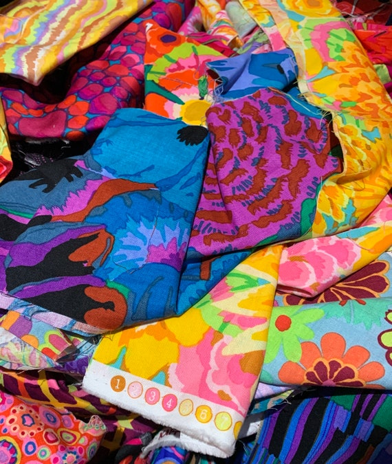 "SCRAP BAG - min. 3 yards Kaffe Fassett Collective fabrics between 3"" - 17"" x WOF"