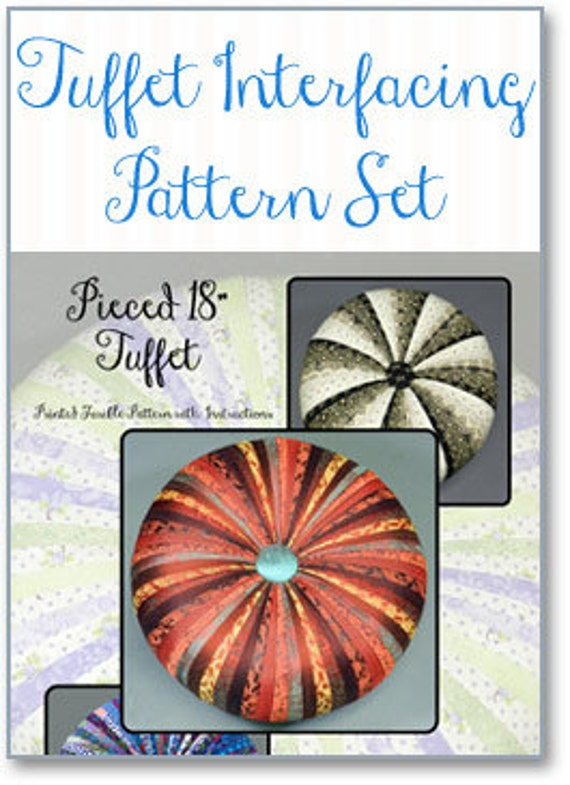 "18"" TUFFET  PATTERN w/instruction booklet  by Tuffetsource"