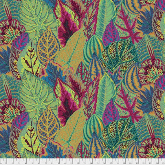 COLEUS MOSS  PWPJ030 Philip Jacobs for Kaffe Fassett Collective  1/2 yd - Multiples cut continuously