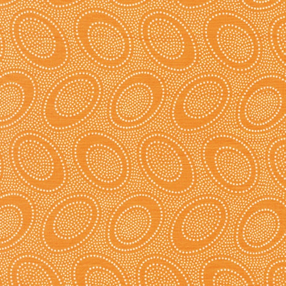 ABORIGINAL DOT GP71 Cantaloupe orange GP71 Kaffe Fassett Collectives  1/2 yd - Multiples cut as one length  - USA based retailer