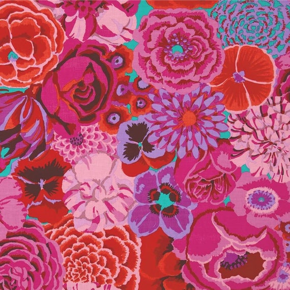 BEKAH MAGENTA GP69 Kaffe Fassett fabric Sold in 1/2 yd increments