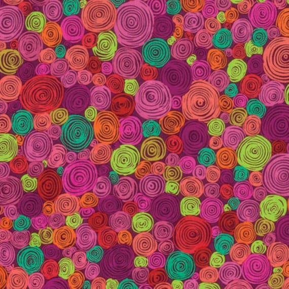ROLLED PAPER RED pwgp158 Kaffe Fassett - Sold in 1/2 yd increments - Multiples cut as one length