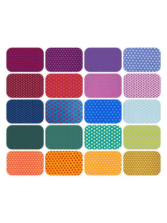 RAINBOW SPOTS Spot Pack x 20 fabrics FQ Fat Quarters or Straight 1/4 yd cuts - Kaffe Fassett pwgp70