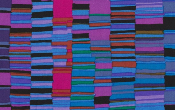 SHIRT STRIPES Cobalt BLUE pwgp51 by Kaffe Fassett  Sold in 1/2 yd increments