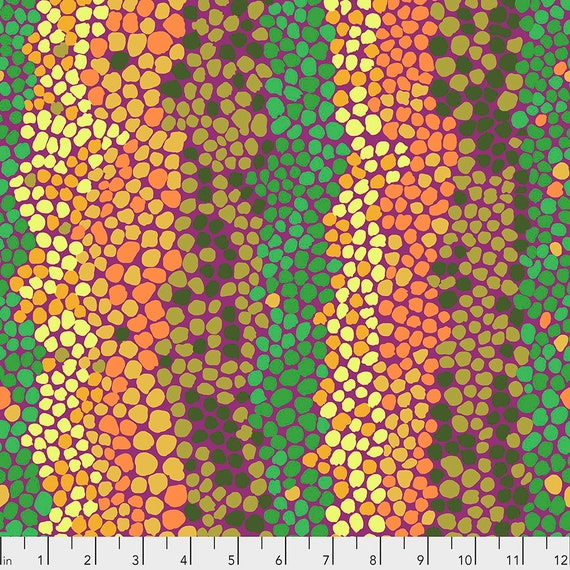 PEBBLE MOSAIC Jungle pwbm042 Brandon Mably - Kaffe Fassett Collective -Sold in 1/2 yd increments