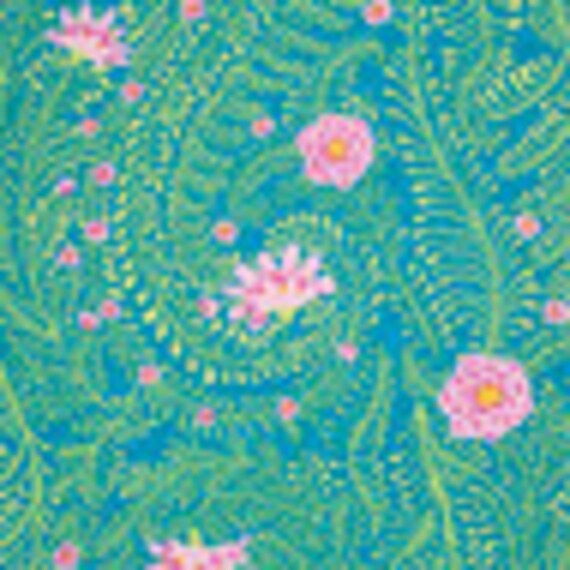 FERNS TURQUOISE GP147 by  Kaffe Fassett Collective